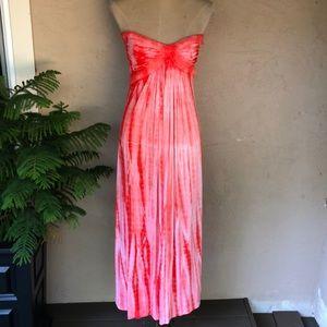 Sky Gordita tie dye strapless maxi dress